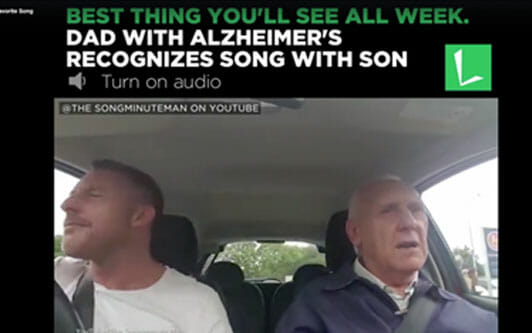 Father with Alzheimer's Remembers Favorite Song!